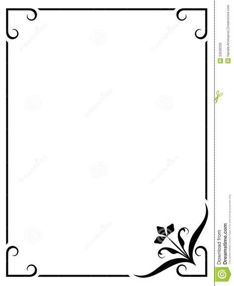pattern frame illustrator simple frame stock vector illustration of background