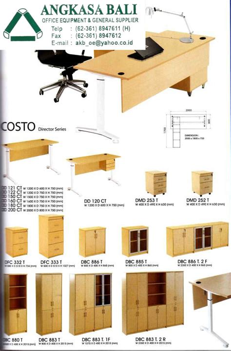 Jual Meja Komputer Surabaya Only angkasa bali supplies office furniture office equipment in