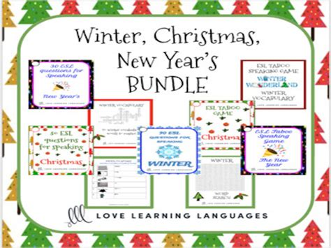 new year grade 2 esl ell winter and new year s speaking