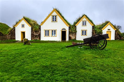 houses on a iceland s turf houses merge beautifully with nature
