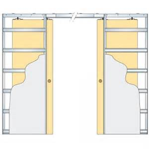 Door kit supplied with glass doors 100mm finished wall thickness