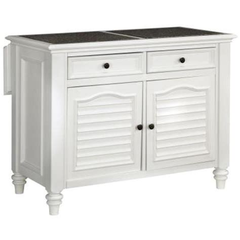 Kitchen Island At Home Depot Home Styles Bermuda Kitchen Island With White Finish 5543
