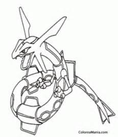 colorear rayquaza pokemon dibujo colorear gratis