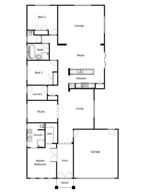 what is the floor plan basic ground floor plan modern house