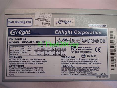 Power Supply Enlight 400w enlight en 8420934 hpc 420 102 df 420 watts 420w atx