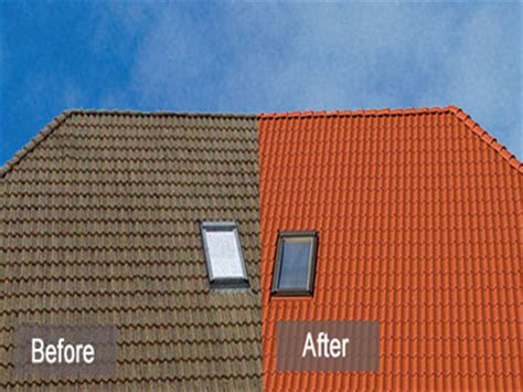 spray painting roof tiles roof paint before and after spray painting