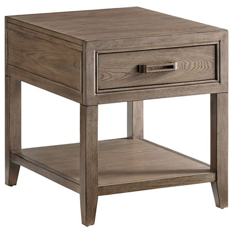 bahama end tables bahama home cypress point pearce one drawer end