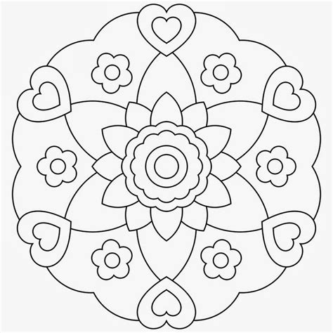 Free Coloring Pages Mandala