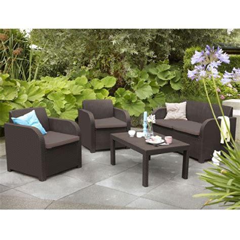 Allibert Patio Furniture by Allibert Montpellier Brown Rattan Outdoor Garden Furniture