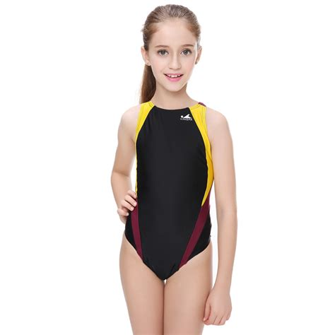 tight one piece swimsuits professional children swimwear racing girls one piece