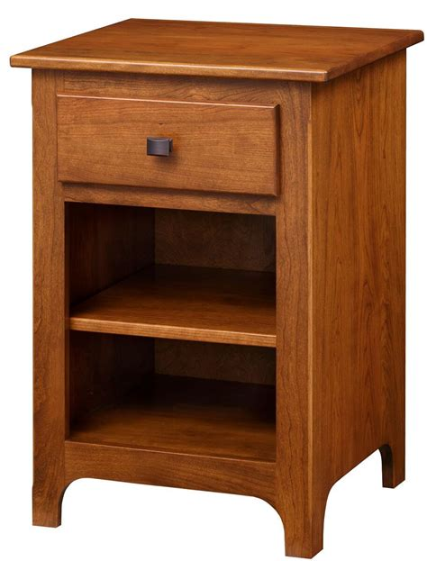 Narrow Nightstand by Huntington Narrow Nightstand Countryside Amish Furniture