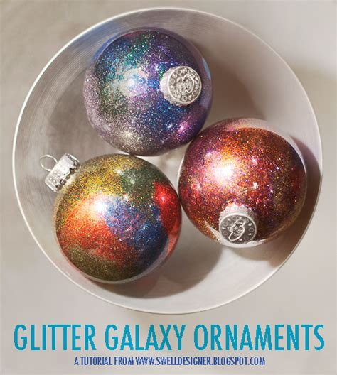 glitter galaxy ornament diy a little craft in your day