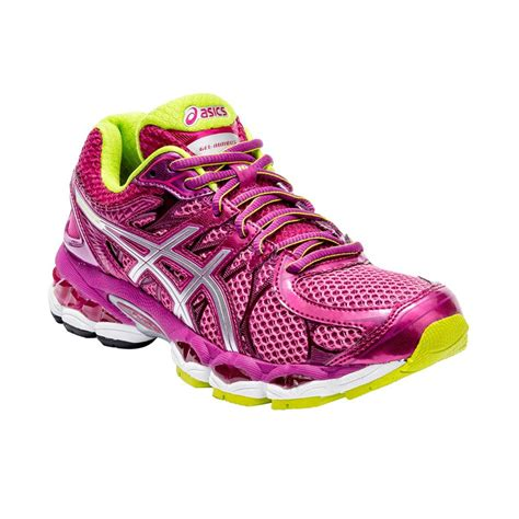 asics gel nimbus  womens running shoes rasberry