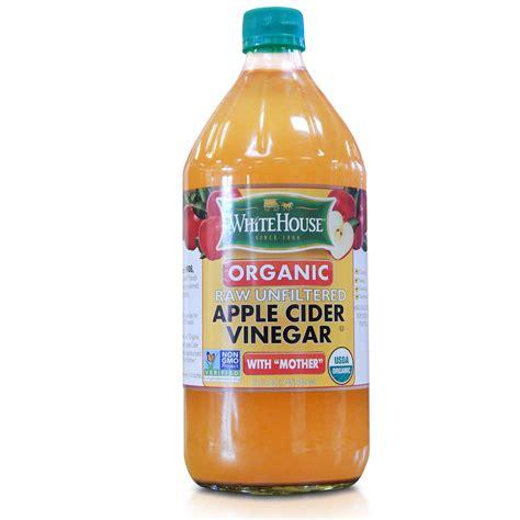 Apple Cider Vinegar organic unfiltered apple cider vinegar white house