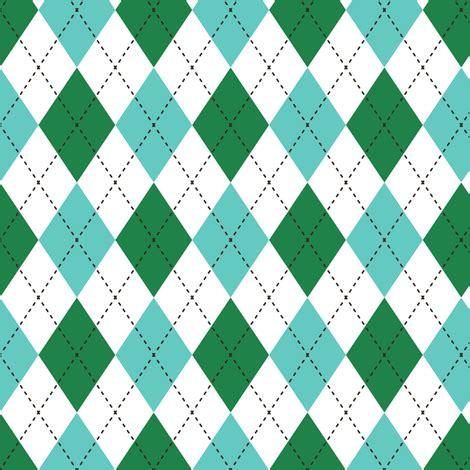 argyle green & blue fabric diane555 spoonflower