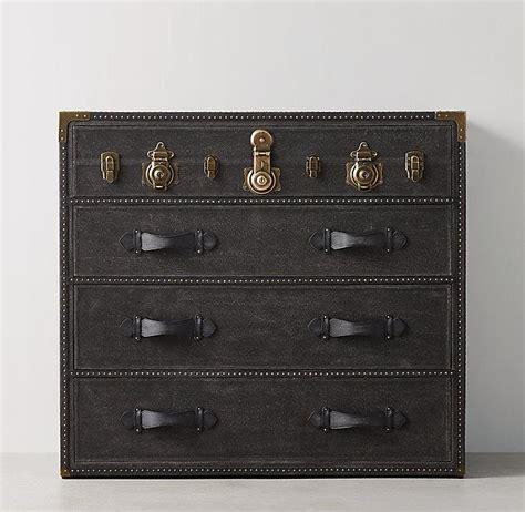 eldon black steamer trunk dresser