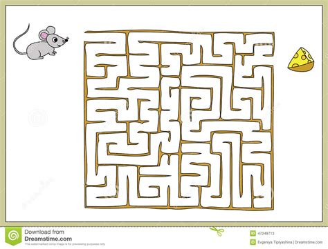 Ways To Find Find Your Way To The Cheese To The Mouse Stock Vector Image 47248713
