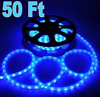 50 blue led rope light outdoor christmas home lighting 110v