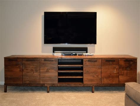 rooms to go media console handmade reclaimed wood media center console by