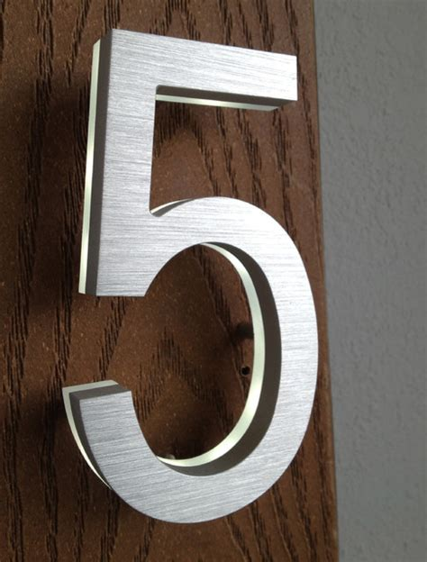 outdoor house numbers modern backlit house number led address sign modern house numbers other metro
