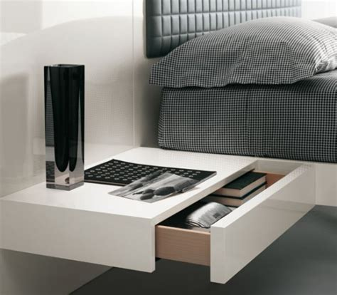 futuristic bedroom set with suspended bed aladino up