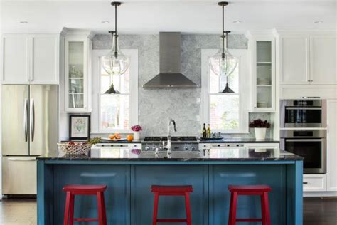 modern kitchen with red bar stools hgtv photo page hgtv