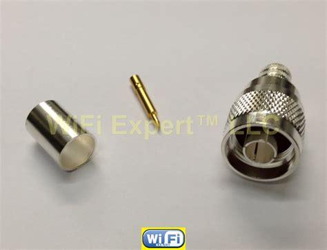 Konektor N Rg8 By Tokohdcctv 10 silver n crimp coax connector lmr400 lmr 400