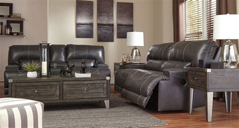 room tables with power mccaskill gray power reclining living room set living room sets living room furniture