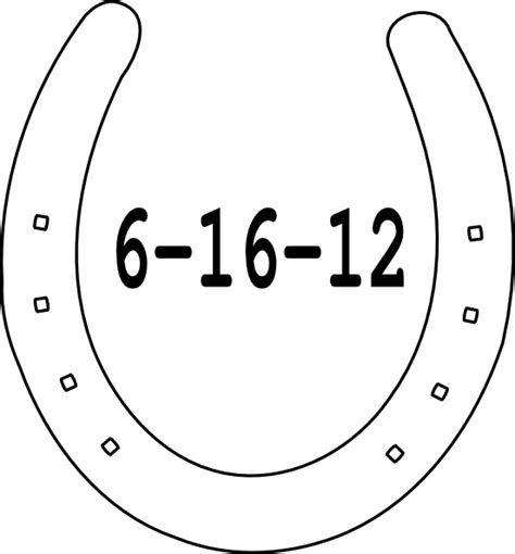 horseshoe template date horseshoe clip at clker vector clip