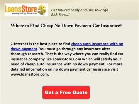 Cheap Auto Insurance with No Down Payment