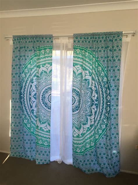 curtains as wall decor items similar to mandala curtains mandala tapestry home