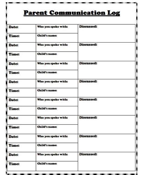 Best 25 Parent Communication Log Ideas On Pinterest Communication Log Parent Contact Sheet Parent Communication Templates