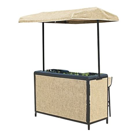 awning table and chairs outsunny 3 piece outdoor mesh cloth canopy bar set table two chairs in the uae