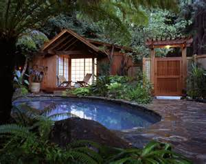 Tiny Pool House by Pool Area Decorating Ideas Decosee Com