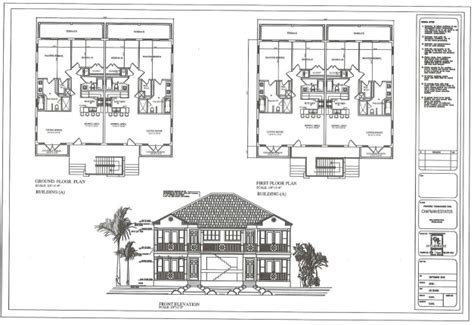 two storey residential house floor plan with elevation