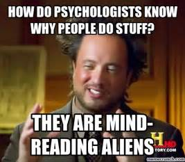 Reading Memes - mind reading alien psychologists