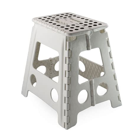 folding c stool with storage new plastic multi purpose folding step stool home kitchen