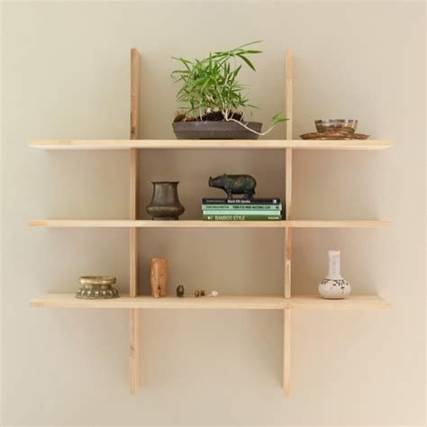 Grid locking shelves contemporary display and wall shelves by stylevisa