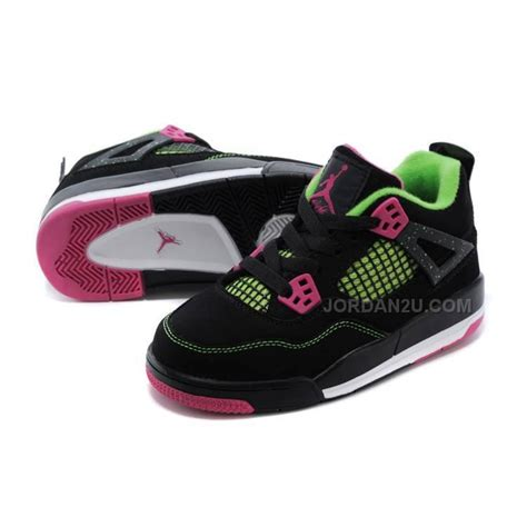youth cheap basketball shoes cheap 4 basketball shoes black pink green for