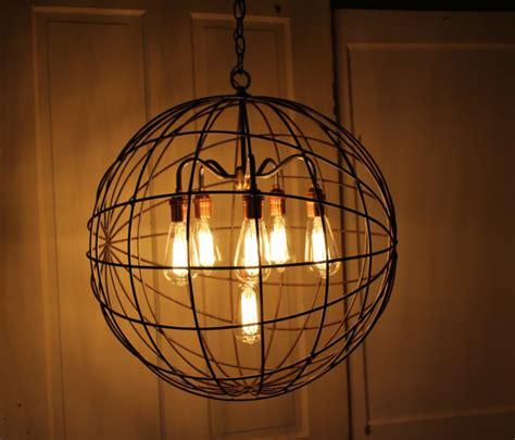 orb chandelier orb chandelier industrial sphere id lights