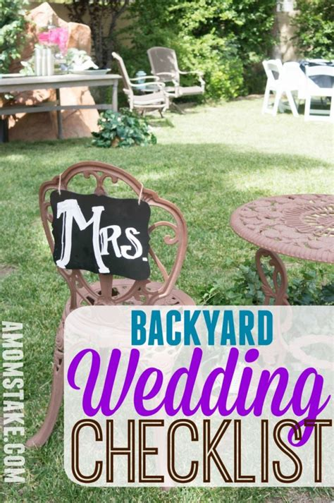 backyard wedding checklist diy backyard wedding checklist a mom s take