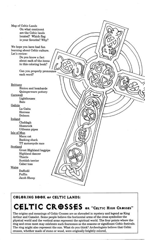 irish coloring book pages celtic cross coloring page coloring home