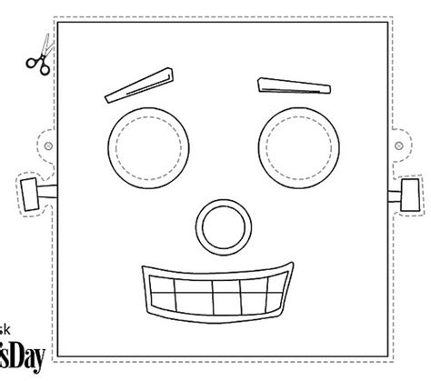 printable robot mask 23 best robot party images on pinterest