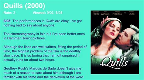 quills movie soundtrack movie review quills 2000 hd youtube