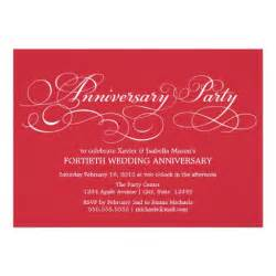 personalized 40th anniversary invitations custominvitations4u
