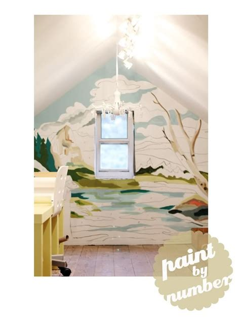 Paint By Numbers Wall Mural paint by number wall mural frames amp walls pinterest