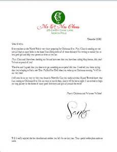 Free Santa Letter Template Microsoft Word by Free Printable Santa Letter Envelope A In Glasses