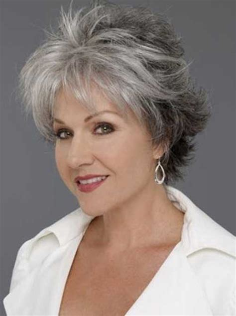 short hair cuts for women over 65 showing back and front 30 nice short haircuts for women over 50 short