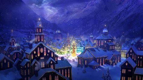 digital wallpapers classic outdoor christmas scenes