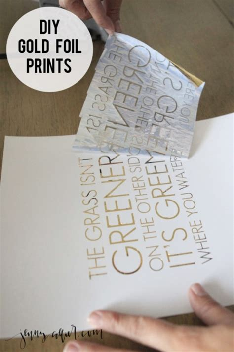 How To Make Gold Paper - diy gold foil print 187 collier
